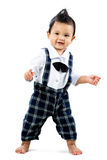 Happy toddler learning to walk Royalty Free Stock Photography