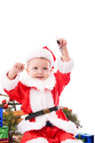 Happy toddler Santa with keys Stock Photography