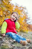 Happy Toddler talking on the phone Royalty Free Stock Photos