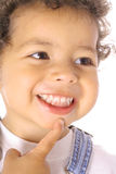 Happy toddler thinking Royalty Free Stock Images