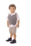 Happy toddler on white Stock Photos