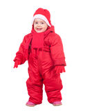 Happy toddler in wintry clothes Royalty Free Stock Images