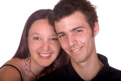 Happy together. Young couple up close Royalty Free Stock Photo