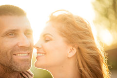 Happy together - couple in love Stock Image