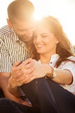 Happy together - couple in love Stock Images