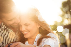 Happy together - couple in love Royalty Free Stock Photography