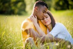 Happy together - mixed ethnic couple Stock Photo