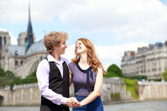 Happy together in Paris Royalty Free Stock Images