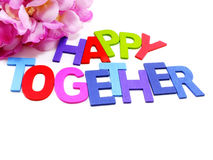 Happy together word concept Stock Images