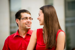Happy together - young couple Royalty Free Stock Images