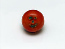 Happy Tomato. A Tomato with unusual markings making it look like it has a happy face Royalty Free Stock Image