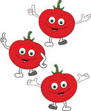 Happy tomato cartoon character Stock Image