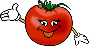 Happy tomato Royalty Free Stock Photos