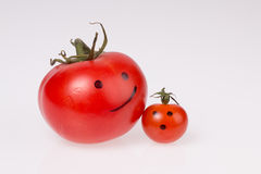 Happy tomato Stock Photos