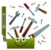 Happy toolbox Royalty Free Stock Image