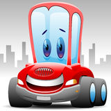 Happy toon car Stock Photography