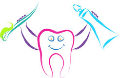 Happy tooth Royalty Free Stock Photo