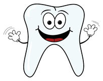 Happy tooth character Royalty Free Stock Image