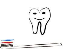 Happy tooth concept stock illustration
