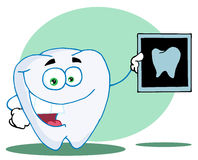 Happy tooth with an xray Stock Images