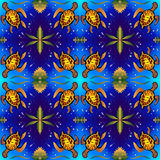 Happy tortoise pattern Stock Photos