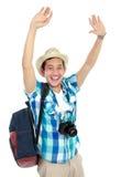 Happy tourist Stock Photography