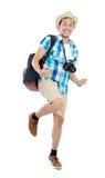 Happy tourist Stock Images
