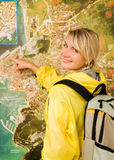 Happy tourist Royalty Free Stock Images