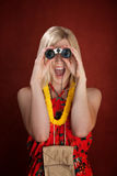 Happy Tourist Woman Royalty Free Stock Image