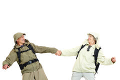 Happy tourists Royalty Free Stock Photography