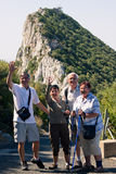 Happy tourists on the Rock of Gibraltar Royalty Free Stock Images