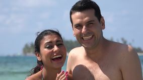 Happy Tourists On Summer Vacation. Stock video in 4k or HD resolution stock footage