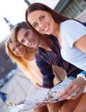 Happy tourists Stock Photos