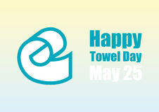 Happy Towel Day vector Royalty Free Stock Photography