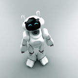 Happy toy. Happy cartoonish robot. Toy of future Royalty Free Stock Photos