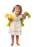 Happy with toys Royalty Free Stock Photos