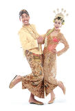 Happy traditional java wedding couple Royalty Free Stock Photography