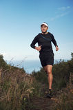 Happy trail run Stock Images
