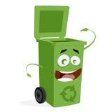 Happy trashcan waiting for trash Royalty Free Stock Photo