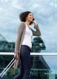 Happy travel woman Royalty Free Stock Photo