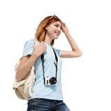 Happy travel woman Stock Photo