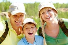 Happy travelers Royalty Free Stock Image