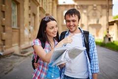 Happy travelers Stock Photography