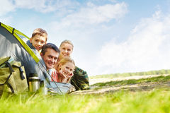 Happy travelers Royalty Free Stock Photo