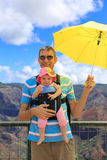 Happy travelers. Waimea Canyon. Stock Images