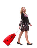 Happy traveller Stock Image