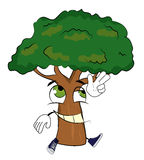 Happy tree cartoon Stock Photography