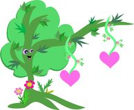 Happy Tree of Hearts Stock Photo