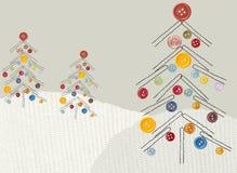 Happy trees vector illustration