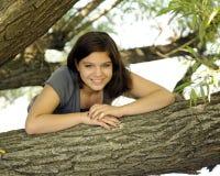 Happy among the Trees Stock Image